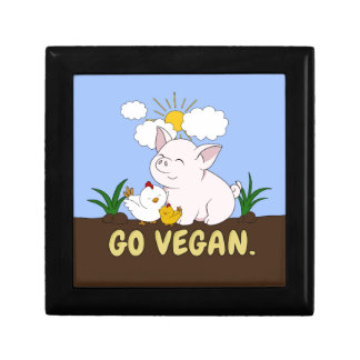 Go Vegan - Cute Pig and Chicken Gift Box