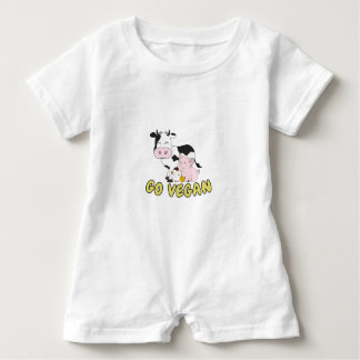Go Vegan - Cute Pig, Cow and Chicken Baby Romper