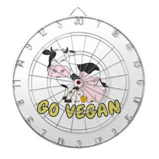 Go Vegan - Cute Pig, Cow and Chicken Dartboard
