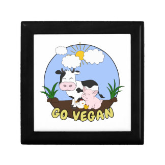 Go Vegan - Cute Pig, Cow and Chicken Gift Box
