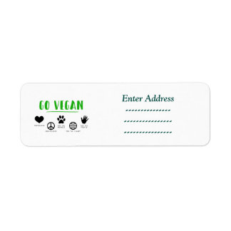 Go vegan for the planet address label Sticker