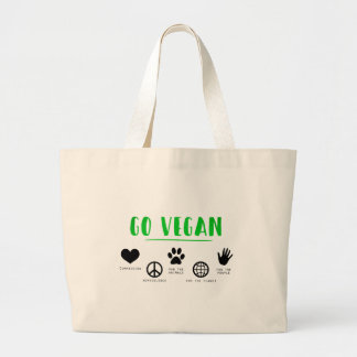 Go Vegan Large Tote Bag