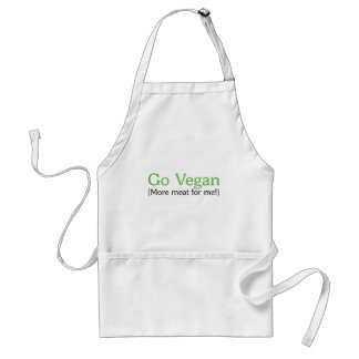 Go Vegan (More Meat for Me) Standard Apron