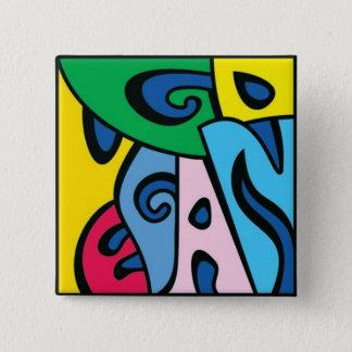 GO VEGAN - Style 1 2 Inch Square Button