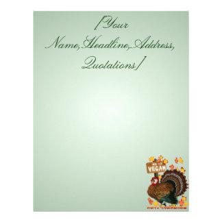 Go Vegan! Thanksgiving letterhead_vertical, [Yo... Letterhead Design