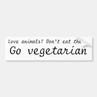 Go vegetarian bumper sticker
