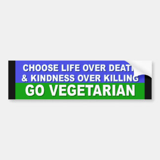 Go Vegetarian Bumper Sticker