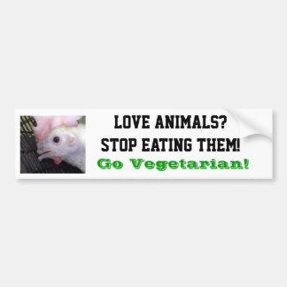 Go Vegetarian Hen Bumper Sticker