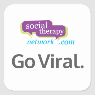 Go Viral. Social Therapy Network. Square Sticker
