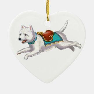 Go Westie! Ceramic Ornament