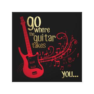 Go where the guitar takes you.... Canvas Art