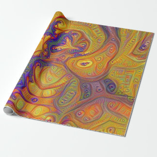 Go With the Flow Abstract Design Wrapping Paper