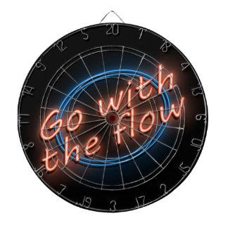 Go with the flow. dartboard