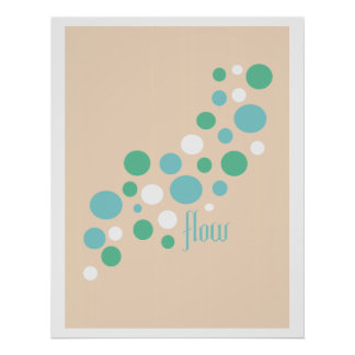 Go With the Flow Inspirational Print