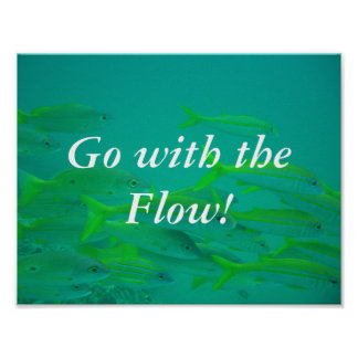 Go with the Flow little fish poster