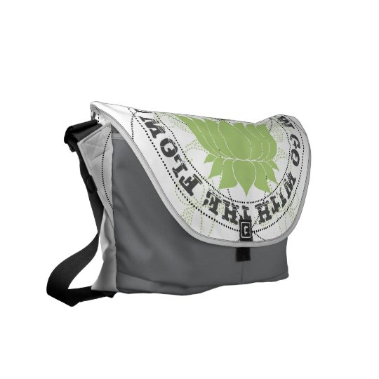Go with the Flow lotus Flower Courier Bag