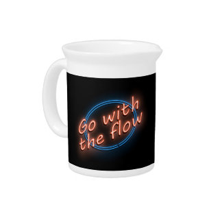 Go with the flow. pitcher