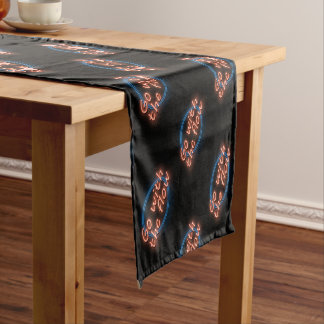 Go with the flow. short table runner