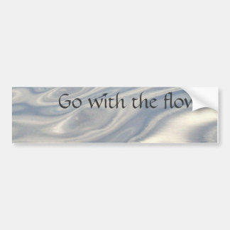 Go with the Flow (water) Bumper Sticker