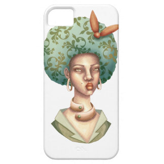 Go with the Fro -  Lady with Green Afro Unique Art Case For The iPhone 5
