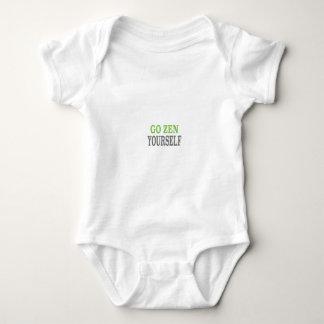 Go Zen Yourself (green breath edition) Baby Bodysuit