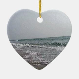 Goa Beach India Ceramic Heart Ornament