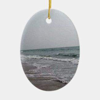 Goa Beach India Ceramic Oval Ornament