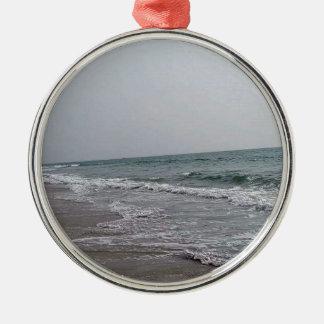 Goa Beach India Silver-Colored Round Ornament
