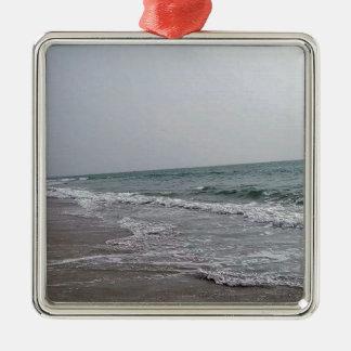 Goa Beach India Silver-Colored Square Ornament