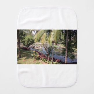 Goa India Garden Burp Cloth