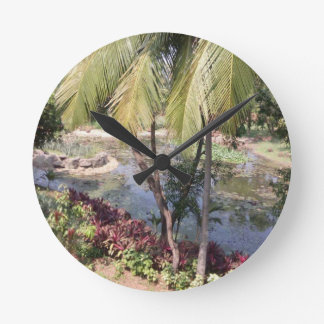 Goa India Garden Round Clock