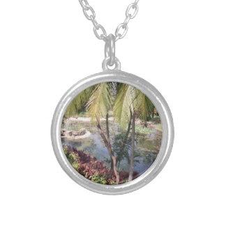 Goa India Garden Silver Plated Necklace