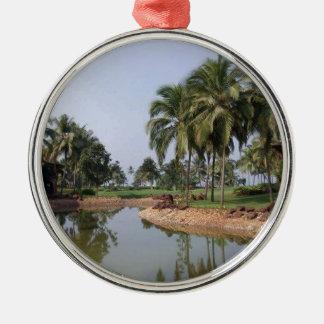 Goa India Silver-Colored Round Ornament