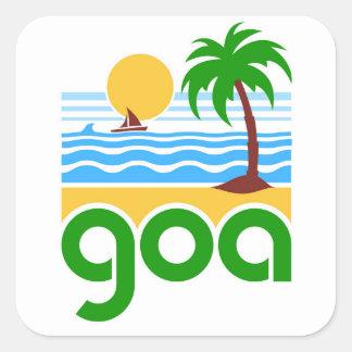 Goa picture square sticker