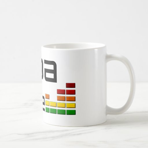 Goa Trance Music with Stereo Equalizer Coffee Mugs