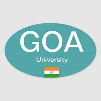 Goa University* (India) Euro-style Oval Sticker