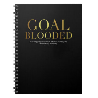 Goal Blooded Notebook