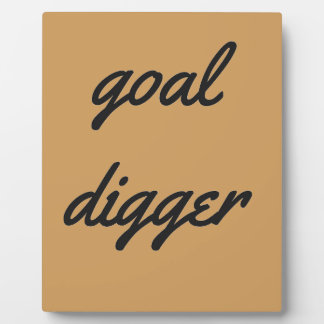 Goal Digger Humor Design Collection Illustration Plaque