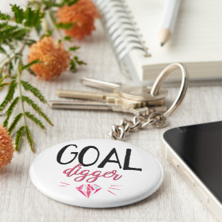 Goal Digger, Motivated Girl Keychain