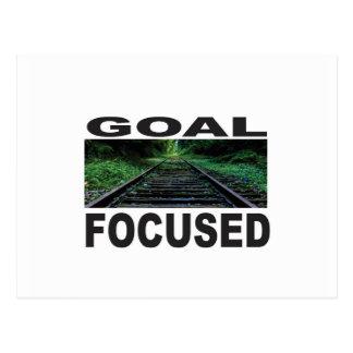 goal focused track postcard