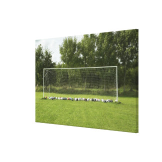 Goal Full of Balls Stretched Canvas Prints