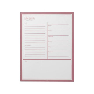 Goal Getter Weekly Planner Notepad