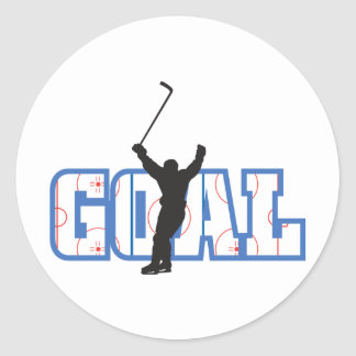 Goal Hockey Classic Round Sticker