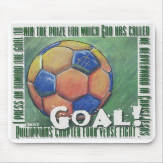 Goal! scripture soccer ball mousepad
