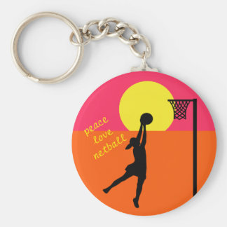 Goal Shooter Design Netball Quote Theme Keychain