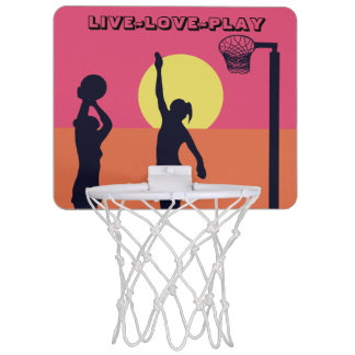 Goal Shooter Theme Live Love Play Netball Mini Basketball Hoop