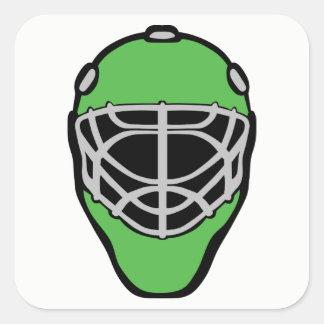 Goalie Mask Square Sticker