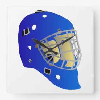 Goalie Mask Square Wall Clock