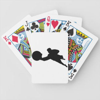 Goalkeeper Silhouette Bicycle Playing Cards