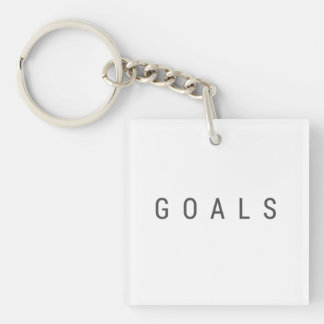 Goals Double-Sided Square Acrylic Keychain